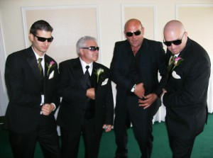 You know your Italian when these guys show up to your wedding!
